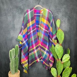 Soft Surroundings Sweaters - 🆕Soft Surroundings Plaid Topper Poncho       E341